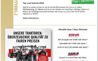 Schönenberger News vom Februar 2018