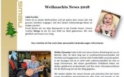 Schönenberger News vom Dezember 2018